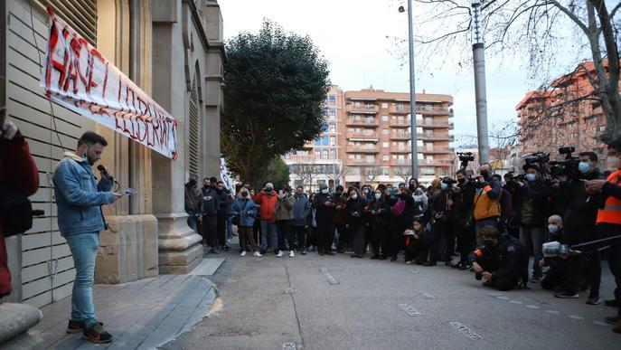Manifestació suport Pablo Hasél