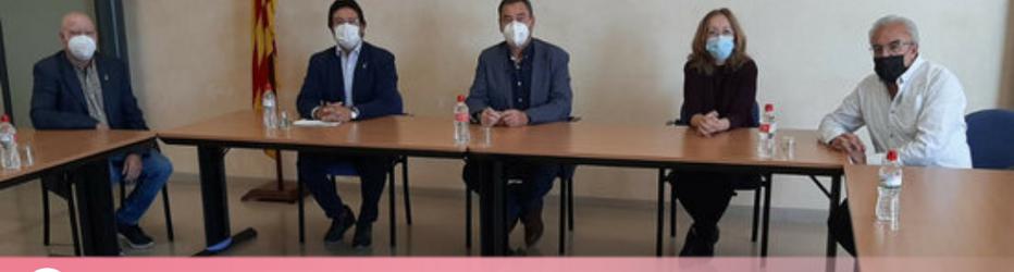 Reunió del secretari d'Infraestructures i Mobilitat, Isidre Gavín amb el Consell Comarcal de les Garrigues