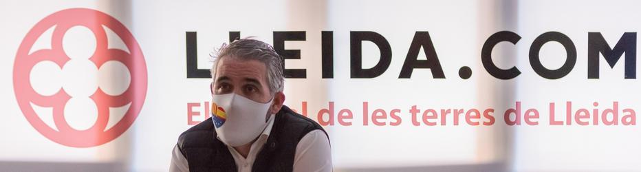 Jorge Soler González (Cs) a la Redacció de Lleida.com