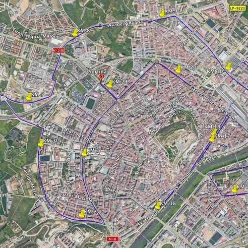 Recorregut Rodi Mitja Lleida