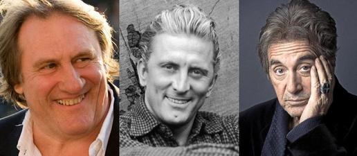 Depardieu, Kirk Douglas, Al Pacino