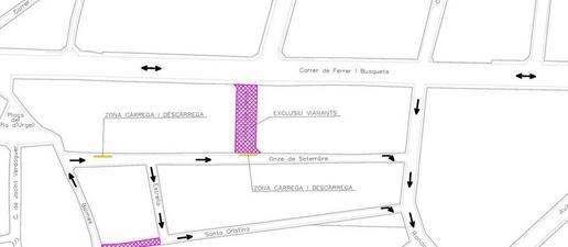 """Mollerussa canvia el sentit de 3 carrers per """"allunyar"""" el trànsit del centre"""