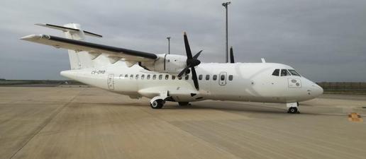 Alguaire, pàrquing d'avions d'una aerolínia portuguesa