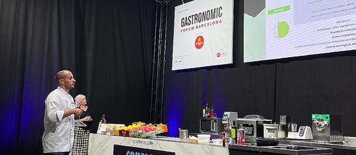 Joel Castanyé, xef de La Boscana porta la fruita de Lleida al Fòrum Gastronòmic
