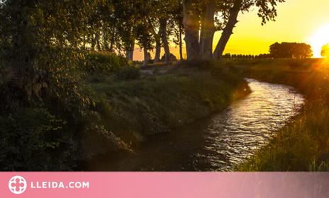 La posta de Sol de Ponent des del Canal d'Urgell.