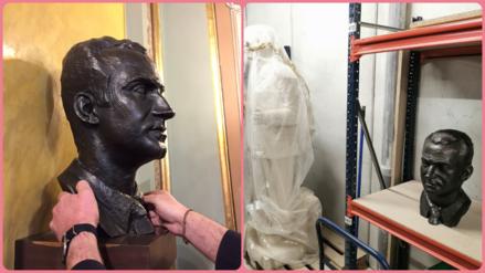 La Paeria retira el bust del rei emèrit Joan Carles