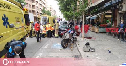 Ferit greu un motorista en un accident a Pardinyes