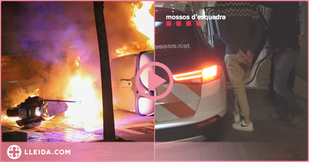 ⏯️ Dos detinguts per atacar dos motos de la Guàrdia Urbana de Lleida en les protestes proHasel