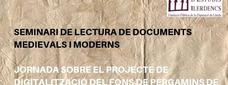 Seminari de lectura de documents medievals i moderns