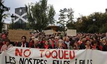 Mobilització per exigir la llibertat dels joves detinguts a Lleida